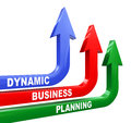 D illustration of concept of dynamic business planning Royalty Free Stock Images