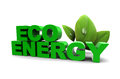 D illustration eco energy sign green leaf Stock Photo