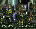 3D Illustration of Electronic Circuit Board and Robots Royalty Free Stock Photo