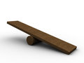 D illustration of empty seesaw board over white background Royalty Free Stock Images