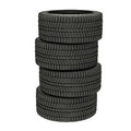 3d illustration four winter tires isolated Royalty Free Stock Photo