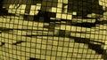 3D Illustration Golden Disco Ball Royalty Free Stock Photo