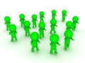 3D illustration of green zombie apocalypse