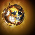 3d illustration Halloween disco ball golden Royalty Free Stock Photo