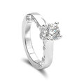 3D illustration isolated white gold or silver romantic diamond r