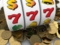 D illustration of jackpot with golden coins Royalty Free Stock Images