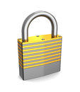 D illustration lock over white background Stock Image