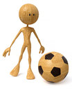 3d illustration man plays football
