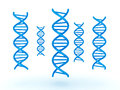 3D illustration of many DNA double helix standing vertically
