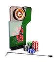 3d Illustration of realistic casino roulette table, casino online concept