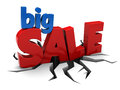D illustration sign big sale over white background Stock Photo