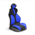 D illustration sports car seat on mebom background Royalty Free Stock Photography