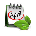 D illustration spring calendar april page Royalty Free Stock Photos