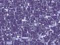 Trojrozmerný ilustrácie z krajné fialový pavučina obvody