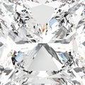 3D illustration zoom macro white gemstone expensive diamond