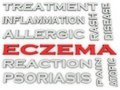 3d image Eczema word cloud concept
