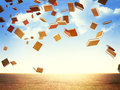 D image of flying books Royalty Free Stock Photo