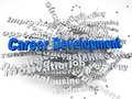 3d imagen Career development  concept word cloud background Royalty Free Stock Photo