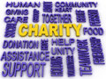 3d imagen Charity concept in word collage Royalty Free Stock Photo