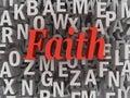 3d imagen Faith word cloud concept Royalty Free Stock Photo