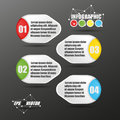 D infographic paper style vector four lable Royalty Free Stock Photography