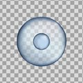 3d Isolated human blue cell. Realistic vector illustration. Template for medicine and biology