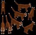 3d isometric tabby cat