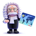 D judge credit render of a with card Royalty Free Stock Photography