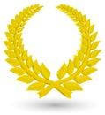 3D Laurel wreath