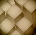 D levels cardboard texture illustration design graphic Royalty Free Stock Image