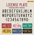 3d license plate font Royalty Free Stock Photo