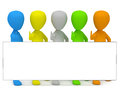 D little colored people advertise d image white background Royalty Free Stock Photo