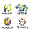 3D logo vector set Royalty Free Stock Photo