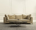 D luxury classic living room beige with grey carpet Royalty Free Stock Images