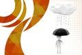 D mężczyzna deszczu parasola ilustracja Zdjęcia Stock