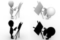 D man artist conept collections with alpha and shadow channel included in Royalty Free Stock Image