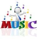 3D man musical logo