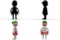 3d man repairman concept collections with alpha and shadow channel