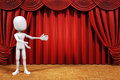 D man on stage play concept Royalty Free Stock Photos