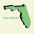 The 3d  map of florida state USA Royalty Free Stock Photo