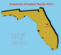 The d map of the university of central florida ucf at orlando go gold knights gainesville dpi high resolution file Stock Photography