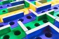 3D Maze coloured plastic board game