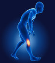 D medical man knee pain Stock Images