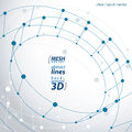 3d Mesh Cylinder Abstract Obje...