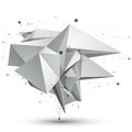 D mesh modern stylish abstract object origami facet structure on white background Royalty Free Stock Image