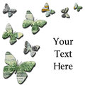 3-D money butterflies on white background Royalty Free Stock Photo