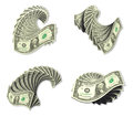 3D Motion icon of dollars. 3D Icon Design Series. Royalty Free Stock Photo