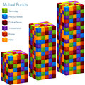 D mutual fund bar chart an image of a Royalty Free Stock Photo