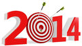 D new year with target and arrows on white background Royalty Free Stock Images