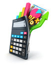 D open calculator isolated white background image Royalty Free Stock Photo